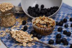 Bluberry Breakfastmuffins gesund blaubeern oats, Haferfolcken, Frühstück, Muffin