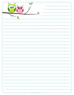 Owls lined stationary