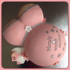 Babyshower dikke buik taart zwanger van een meisje / Babyshower cake baby girl