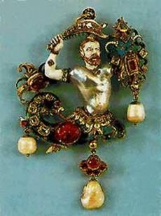 THE MEDICI JEWELS ~ A pendant, Italy, from The Medici Collection shown in Moscow Kremlin in 2011 || Following the legend, The Medici family presented this pendant in the 16th century to the Emperor of Mogols. In the 19th century the jewel was bought by European merchant and sold it to V Museum, London