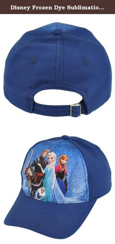 Disney Frozen Dye Sublimation Princess Movie Animation Adjustable Kids Cap Hat. Your little one will most definitely fall in love with this Frozen hat simply because it has everyone's favorite characters. This kids cap features a graphic sublimation of the Frozen cast across the front panel and an adjustable buckle closure for a comfortable fit. Authentic Merchandise. Officially Licensed Product.