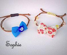 #bow #bracelets #handmade #evileye #handmadegreece #jewelry  χειροποίητα βραχιόλια με φιογκάκια κ μακραμέ κούμπωμα Evil Eye Bracelet, Bulgarian, Gemstone Jewelry, Jewerly, Projects To Try, Gemstones, Beads, Bracelets, Earrings