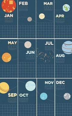 2013 Astro Calendar by Mirna Noaman and Nada Hesham in Awesome Examples of Calendar Designs for 2013