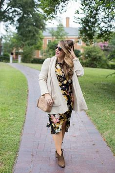 Summer Dress to Fall Transition by NC fashion blogger Coffee Beans and Bobby Pins