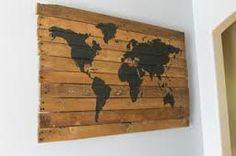 world map pallet art - Track all he places you've been and all the places you want to go!