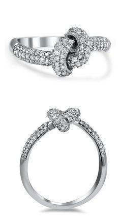 Pave Love Knot Diamond Ring ♡
