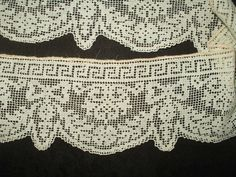 2 Darn Net Lace Dress Trim Grecian Influence Vintage Edwardian 1920's Era - The Gatherings Antique Vintage