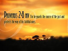 Bible Verses Proverbs Wisdom | Proverbs 2:8 – He Guards and Protects Papel de Parede Imagem
