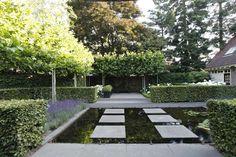 Moderne tuin en toch landelijk en klassiek