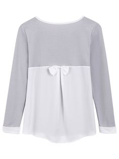 Shop Grey Round Neck Contrast Trims Bow Embellished Blouse online. SheIn offers Grey Round Neck Contrast Trims Bow Embellished Blouse & more to fit your fashionable needs.