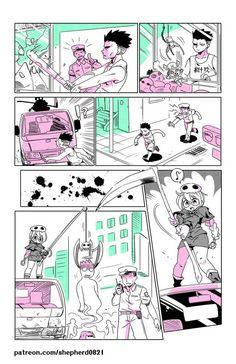 Tagged with monster girl, centaur, medusa, mogal; Modern MoGal by Japanese Urban Legends, Jagodibuja Comics, Manga Art, Anime Art, Kuchisake Onna, Monster Girl Encyclopedia, Anime Monsters, Furry Comic, Scary Art
