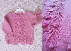 Розовая кофточка на пуговицах