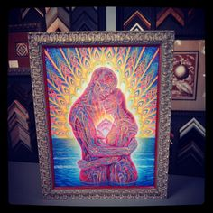 Custom framed canvas by Alex Gray, who does the album art for the band Tool! Alex Gray Art, Alex Grey, Grey Art, Framed Canvas, Framed Artwork, Tool Artwork, Maggot Brain, Opening Your Third Eye, Tool Band
