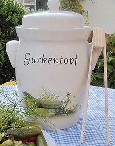Gurkentopf für 5 Liter Inhalt inkl. Gurkenzange 18,50 €