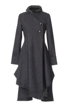 Long black wool fitted-and-flared coat | coat/jacket/manto & palto ...
