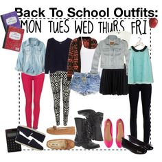 Back To School: Outfits by trippy-maine on Polyvore