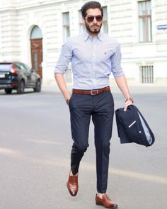 mens_fashion - 35 Awesome Casual Office Outfits Ideas for Men 2019 Fashioneal com Formal Dresses For Men, Formal Men Outfit, Formal Suits For Men, Formal Outfits, Stylish Outfits, Business Casual Outfits, Office Outfits, Stylish Men, Men Casual