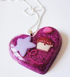 kawaii glitter jewelry