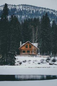 upscale cabin in banff, alberta, canada #winter