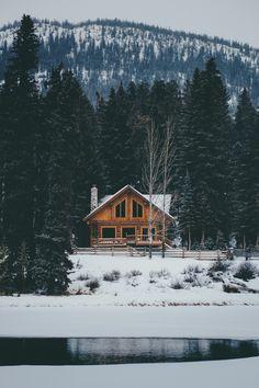 upscale cabin in banff, alberta, canada #winter