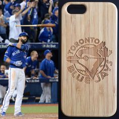Bamboo wood Toronto Blue Jays  case dde638689