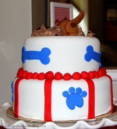 Eating in the Shower: Puppy Dog Tails First Birthday Party