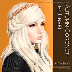 "erschsims: ""  AUTUMN CORONET BY ERSEL (SIMS 3) Аccessory: Earrings (Icons in CAS)Gender: Female/MaleAge: Teen/Young Adult/Adult/ElderCategory: EveryFormat: Sims3Pack Recolourable + 3 variants Download..."