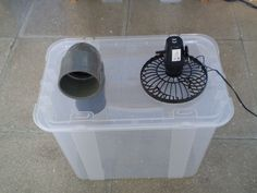 Simple air conditioner via instructables