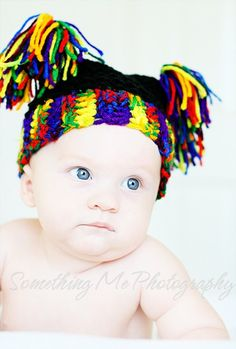 Ready to Ship Newborn Flat Top Hat in Bright Colors by Jessmiloo, $15.00