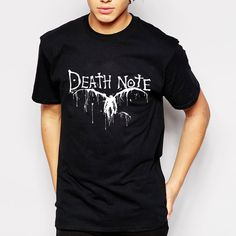 Death Note T Shirts // Price: $24.00 & FREE Shipping Worldwide //    #shingekinokyojin #japanese #illustration #lol #dbz #doodle