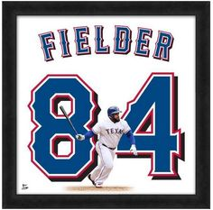 """Prince Fielder Texas Rangers - Officially Licensed 20"""" x 20"""" Uniframe"""