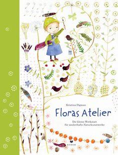 FLORAS ATELIER  SO PUR, SO LEICHT, SO SCHÖN! EIN BESONDERES NATURBASTELBUCH, DAS IN JEDEM DEN KÜNSTLER WECKT Sachen suchen, ob im Wald oder am Strand – das machen alle gern, nicht nur Kinder. Flora, die zauberhafte Figur von Kristina Digman, ist auch so eine – ein Mädchen, das in Pflanzenteilen Wunderwesen sieht und daraus tolle Dinge zum Nachmachen bastelt. Das etwas andere Naturbastelbuch, an dem auch Erwachsene Spaß haben werden. Einfach, ungewöhnlich und schwedisch charmant! | Bohem Flora, Illustrator, Little Monkeys, Treasure Boxes, Children's Book Illustration, Childrens Books, Gifts For Kids, Kids Rugs, Reading
