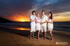 Wailea beach family portrait by Niki of Mike Sidney Photography! www.mikesidney.com