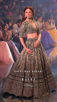 #AditiRaoHydarixKALKI #KALKIxMehrang The B-Town beauty, @aditiraohydari wore the showstopper 'Emerald Lehenga' like a dream. With her flawless beauty and her statuesque posture, Aditi blossomed in the most joyous bridal trends of this season from the collection. A quaint getaway, a modern conception with a vintage romance, #KALKIMehrang brings out classic-yet-contemporary heirloom-worthy-pieces with hand-embroidered archives.✨