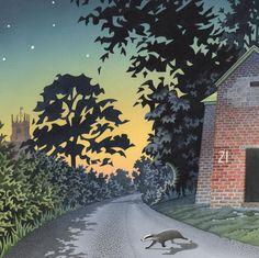 'Silent Crossing' by Painter David Alderslade. Blank Art Cards By Green pebble. www.greenpebble.co.uk