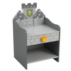 KidKraft Kinder-Nachttisch als graue Burg für kleine Ritter