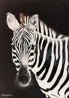 Taylor's Zebra Painting Art Print by DiDi Higginbotham Arte Zebra, Zebra Art, Zebra Painting, Painting Art, Zebra Pictures, Zebra Decor, Scratchboard Art, Photo Animaliere, Pet Monkey