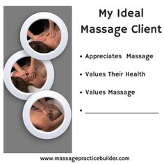 Find Your Ideal Massage Client to build a solid foundation for your massage business. Your ideal client will value massage and your work.