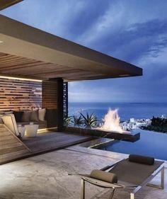 Home Interior Design .Home Interior Design Outdoor Spaces, Outdoor Living, Outdoor Seating, Outdoor Ideas, Outdoor Retreat, Design Exterior, Modern Exterior, My Dream Home, Dream Homes