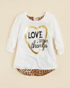 Lily Bleu Girls' Love Little Things Tee - Sizes 4-6X