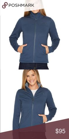 The North Face full zip jacket Brand new blue jacket. Very comfy and cozy. Timber style. North Face Jackets & Coats