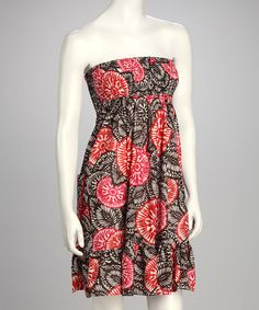 Take a look at this Red Shirred Sleeveless Dress by Pura Vida on #zulily today!