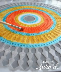 Cutting Edge Stencils shares how to create the perfect accent pillow to match your decor using the Funky Wheel Paint-A-Pillow kit. Pillow Mat, Cutting Edge Stencils, Pillow Tutorial, Pillow Reviews, Perfect Pillow, Custom Pillows, Accent Pillows, Beach Mat, Projects To Try