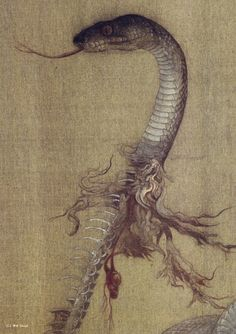 """""""Daily Consumptions of Smooth Affections"""" by Fuyuko Matsui at the Yokohama Museum of Art Art And Illustration, Art Illustrations, Japanese Horror, Snake Art, Japanese Painting, Japan Art, Tokyo Japan, Japanese Artists, Sci Fi Art"""
