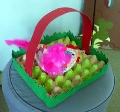 egg carton easter basket