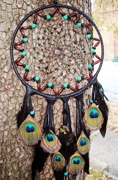 Seven Wishes 'Peacock-Dream-Catcher'