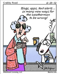 Tri Cities On A Dime: LAUGH FOR THE DAY - MAXINE'S THOUGHTS ON THE WEATH...
