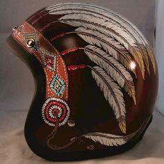 native american motorcycle helmet - Google Search