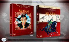 Concept de collection Blu Ray prestige Disney avec fourreau et Digibook : Mulan & Mulan 2 La Mission de l'Empereur Disney Blu Ray, Animation Disney, The Prestige, Collection, Cover, Books, Art, Design, Sheath Dress