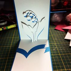 3D Lily of the valley card